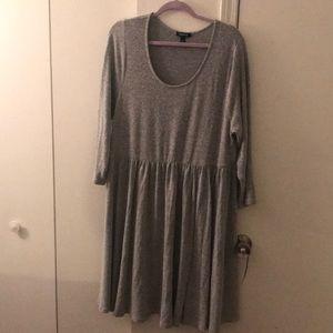 Grey stretchy sweater dress